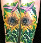 20 Sunflower Tattoos