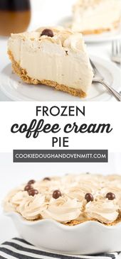 Start summer off with a frozen coffee cream pie! The pie is made with a homemade…