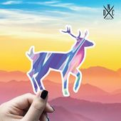 Deer Trippy Vinyl Sticker, Best Friend Gift, Animal Decals, Deer Stickers, Decal, Macbook Decal, Sti