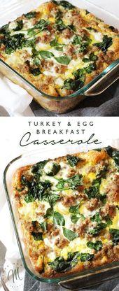 Truthahn und Ei Frühstück Auflauf   – Healthy Breakfast