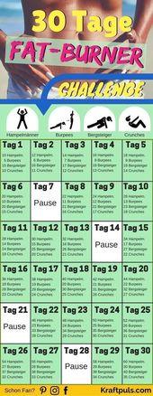 30-Tage Fat-Burner Challenge: So nimmst du schnell und effizient ab!