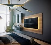 TV Wall: 35 Decor Ideas with Original Design