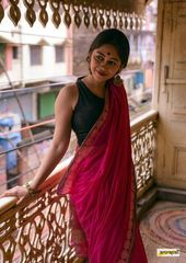 Handwoven pure cotton saree embellished with polka…