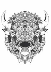 Art Therapy Malvorlagen Tiere Kunstproduktion Buffel Tattoo