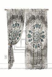 Lieben Sie diese Zebra Boho Vorhänge vielleicht für die Haustür oder das Fenster?   – home