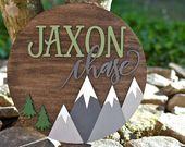 Personalisierte Namen Holz Schild, Runde personalisierte Baby-Namensschild, benutzerdefinierten Namen Kindergarten Zeichen, Kinder Namensschild, personalisierte Namensschild aus Holz   – Baby