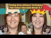 Dying my hair with Avon Advance Techniques Hail Colour – Chocolate Brown…
