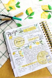 The Keepsake Kitchen Diary recipe spread. A DIY heirloom cookbook to keep your family recipes together.