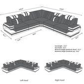 Design Sectional Sofa San Antonio L Shape with LED Lights