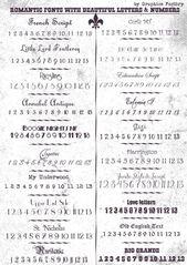 Romantische Schriftarten mit schönen Buchstaben und Zahlen und wie Sie eine neu…