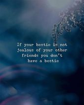 Wenn dein Bestie nicht eifersüchtig auf deine anderen Freunde ist, hast du kein Bestie.   – Positive Quotes