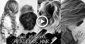 Zurück zur Schule HEATLESS HAIR STYLES -TUMBLR INSPIRED #Hair #HEATLESS #Inspired #School #Sty
