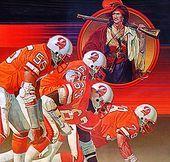 Pro Football Journal Presents Nfl Art Tampa Bay Buccaneers Defense For Damac P Art Bay Buccanee Nfl Football Art Buccaneers Football Football Artwork