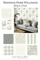 Add Some Wow To Your Walls With Joanna Gaines New Wallpaper Farm House Living Room Home Decor Farmhouse Wallpaper