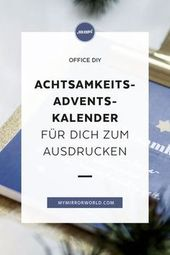 DIY Achtsamkeits-Adventkalender