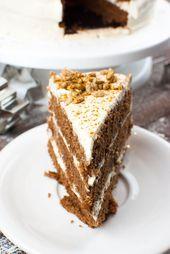Lebkuchen-Torte mit Zimt-Sahne-Creme und gebrannten Sonnenblumenkernen – Rezepte – Weihnachten /Christmas  – New Year delicious