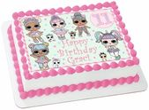 Lol Doll Pastel Pink Lilac Mint Edible 1/4 quarter Sheet Cake Topper Decoration … – Brielle's 4th Birthday- LOL Surprise Dolls