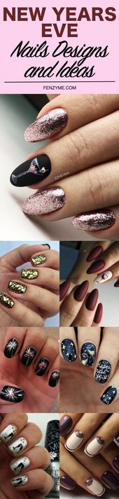 65 Easy New Years Eve Nails Designs and Ideas 2019 –