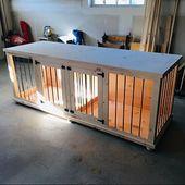 Pläne, Ihre eigenen hölzernen Doppelhundezwinger zu bauen – DIY-Pläne – mittlere Größe   – Hund