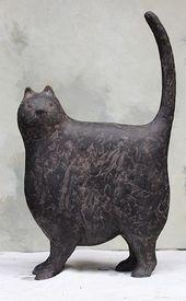 Cat – Keramik Porzellanskulpturen – #cat #ceramic #porcelain #sculptures …   – Katzen