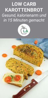 Saftiges kohlenhydratarmes Karottenbrot – Brot ohne Kohlenhydrate