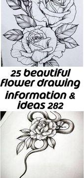 25 schöne Blumenzeichnung Informationen & Ideen 282