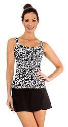 251d8979919c1 Mazu Swim Flora Swirl Twist Front Tankini Women's Plus Size Swimwear,  Bikini Cover Up,