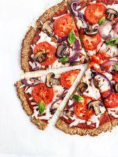 Masa de pizza vegana de coliflor