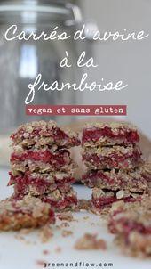 Carrés d'avoine à la framboise (Vegan et sans gluten