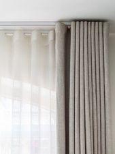 25+ Ideen für die Fensterpflege und Vorhanggestaltung … – #Window Care # for #Id …   – Vorhänge