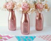 Valentines Day Decor / Gift for Her / Rose Gold von BeachBluesBaby  – Glas Deko