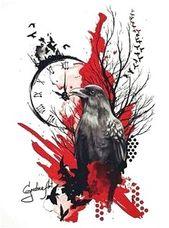 Trash Polka Raven #TattooInspiration Hier klicken, um mehr zu sehen.