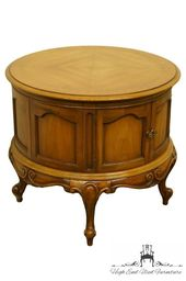 Weiman Louis Xvi Country French Provincial 26″ Round Accent Storage End Table 213-9810  – Products