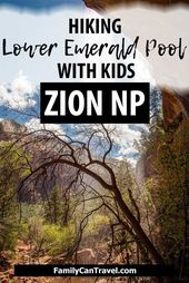 Hiking Lower Emerald Pool Trail with Kids in Zion National Park