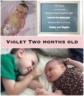 Violet Two Month Bild Baby Monat für Monat Bilder   – Violet Month by Month