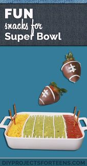 Fun DIY Super Bowl Snacks and Recipes,  #Bowl #DIY #fun #Recipes #snacks #Super #superbowlide…