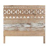 Tête de lit à motifs en bois recyclé L 140 cm | Maisons du Monde