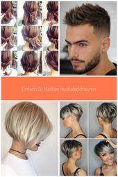 Easy to make updos # braid hairstyles #sylvester #locken # half-open #highest