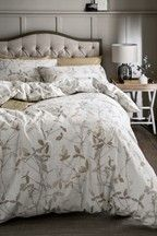 Brushed Cotton Leaf Trail Duvet Cover And Pillowcase Set In 2020