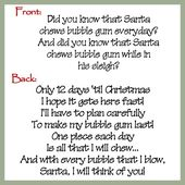 Santa S Bubble Gum Christmas Countdown Topper Digital
