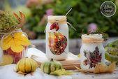 Kreative Ideen – Herbstliche Windlichter aus Marmeladengläsern selber machen …