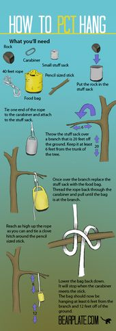 The right way to cling a bear bag – PCT technique
