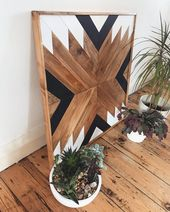 Geometric Wall Art Wood Boho Large, Geometric Wall Art Reclaimed wood