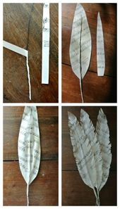 DIY Upcycled Feathers Collage – Mit Musik, altem Bastelpapier, Zeitung … ect # …