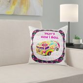 East Urban Home This is How I Roll Retro Hippie Van Design Pillow Cover – Products
