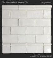 The Three Whites Glazed Ceramic 3″ x 6″ Subway Tile Collection in Vintage White
