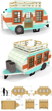 A simple, wooden camper play-set plan for children.  Download and start building…
