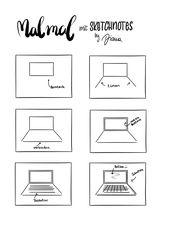 Sketchnotes Anleitung zum Nachzeichnen – Laptop