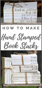 Wie man handgestempelte Buchstapel herstellt