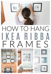 How To Hang Ikea Ribba Frames On The Wall To Look Like An Instagram Grid Plus How To Update Ikea Frames Wit Ikea Picture Frame Ikea Frames Gallery Wall Frames